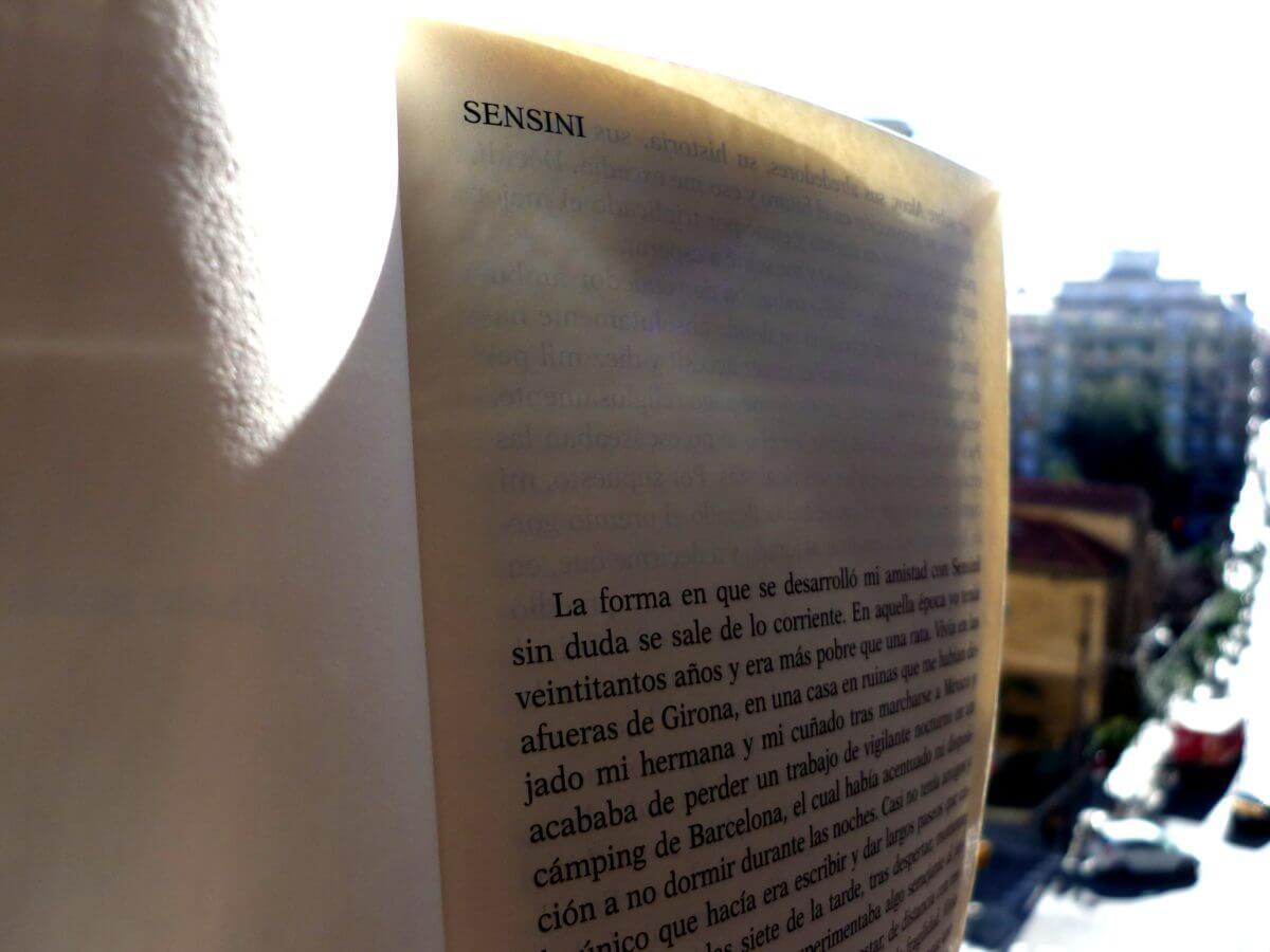 Sensini, un cuento en Llamadas Telefónicas de Roberto Bolaño