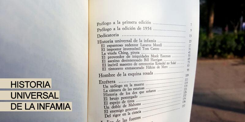 Historia Universal de la Infamia, el primero de Borges