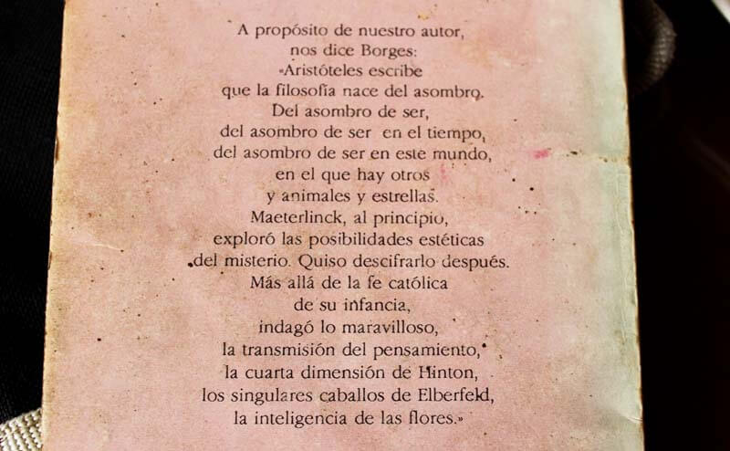 Borges sobre Maeterlinck