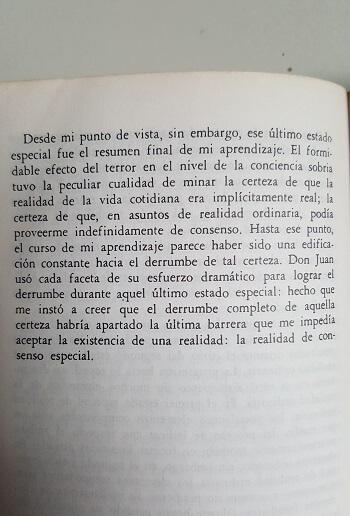 Última página de las enseñanzas de Don Juan