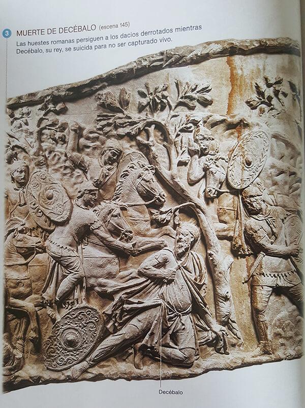 Muerte de Decébalo en la columna de Trojano