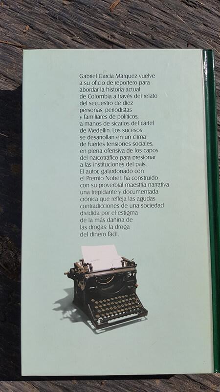 Contracubierta del libro Noticia de un secuestro