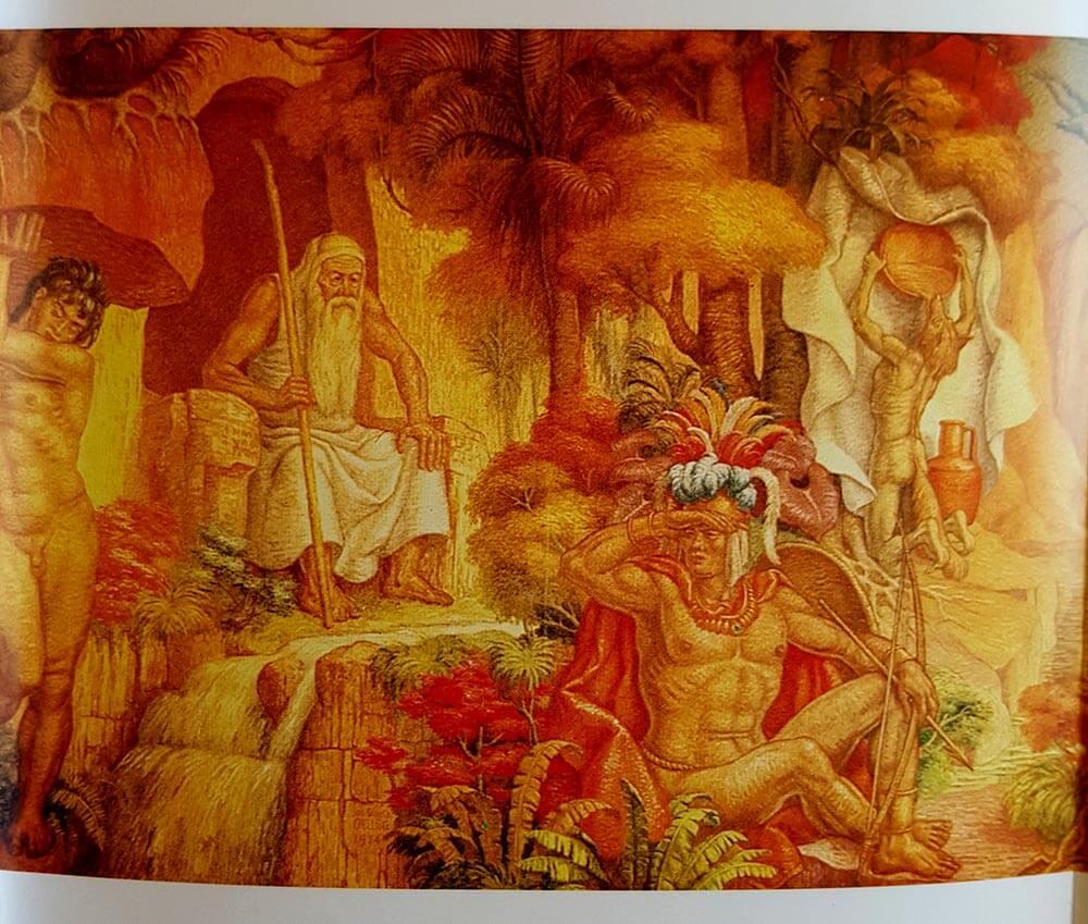 Fragmento del mural de Luis Alberto Acuña
