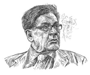 Retrato ilustrado de José Emilio Pacheco